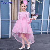 2018 Newest Design Wedding Children Dress Floral Princess Girls Dresses High Quality Trailing Dress Birthday Party