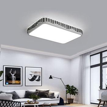 DX современный светодиодный потолочный светильник квадратное освещение приспособление для гостиной лампы дистанционное управление забор ...