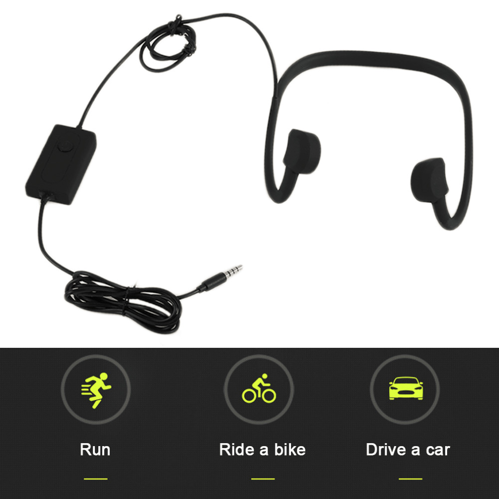 BTL-G002L Black Bone Conduction Headphone Micro-USB Charging Cable High Speed Transmission Sport Headset Hot Sale btl cardiopoint holter h100