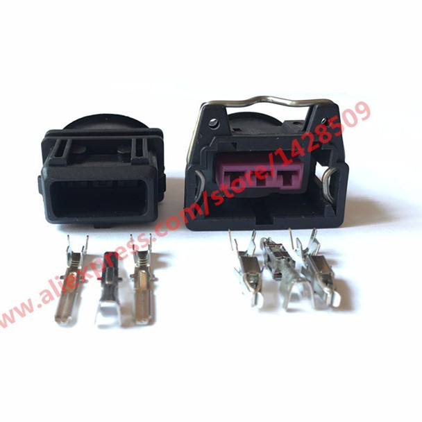 10 Sets Female And Male 3 Pin Wire Connector For Bosch Ev1