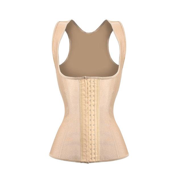 Látex Cintura Trainer Nude Entrenador Cintura Chaleco Para Mujer chaleco de goma de Látex para el Cuerpo de Adelgazamiento de La Cintura Corsés w3427