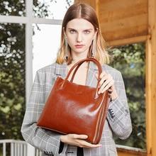 Fashion luxury high-grade calf leather women handbags large capacity bucket design Korean Saffiano shoulder Messenger bag