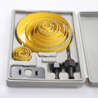 Professional 16Pcs Set Woodworking Hole Saw Kit For Gypsum Board PVC Board Drill Tap Reamer Woodworking