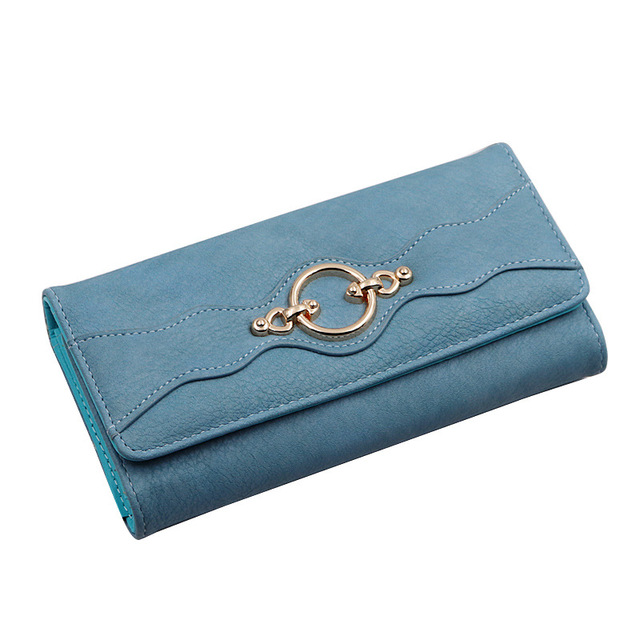 Vintage Long Leather Women Wallet 2019