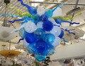Премиум Европейская гостиная мини лестница выдувное стекло люстра для продажи