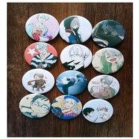 12pcs/Set 58MM Harajuku  Anime YURI on ICE Victor Nikiforov Katsuki Plisetsky Badge Pin Brooch Anime Acrylic Badge