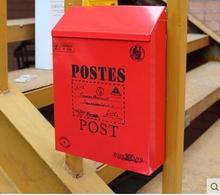 Brytyjska skrzynka do głosowania deszczowego puszka bagażnika malowana czerwona skrzynka pocztowa kreatywna skrzynka pocztowa skrzynka pocztowa zewnętrzna gazeta pudełka oryginalne duszpasterskie tanie tanio Do montażu na ścianie Garden Dazzle-00151 Metal AIBOULLY