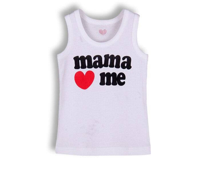 4 шт./лот хлопок футболки для грудничков детская футболка детская одежда детские футболки для мальчиков летняя одежда для девочек детские футболки детское платье без рукавов - Цвет: mama