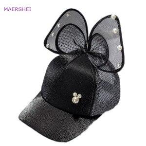 MAERSHEI 2018 новая детская бейсбольная кепка с жемчужной сеткой Кепка Casquette для девочек Кепка s Snapback