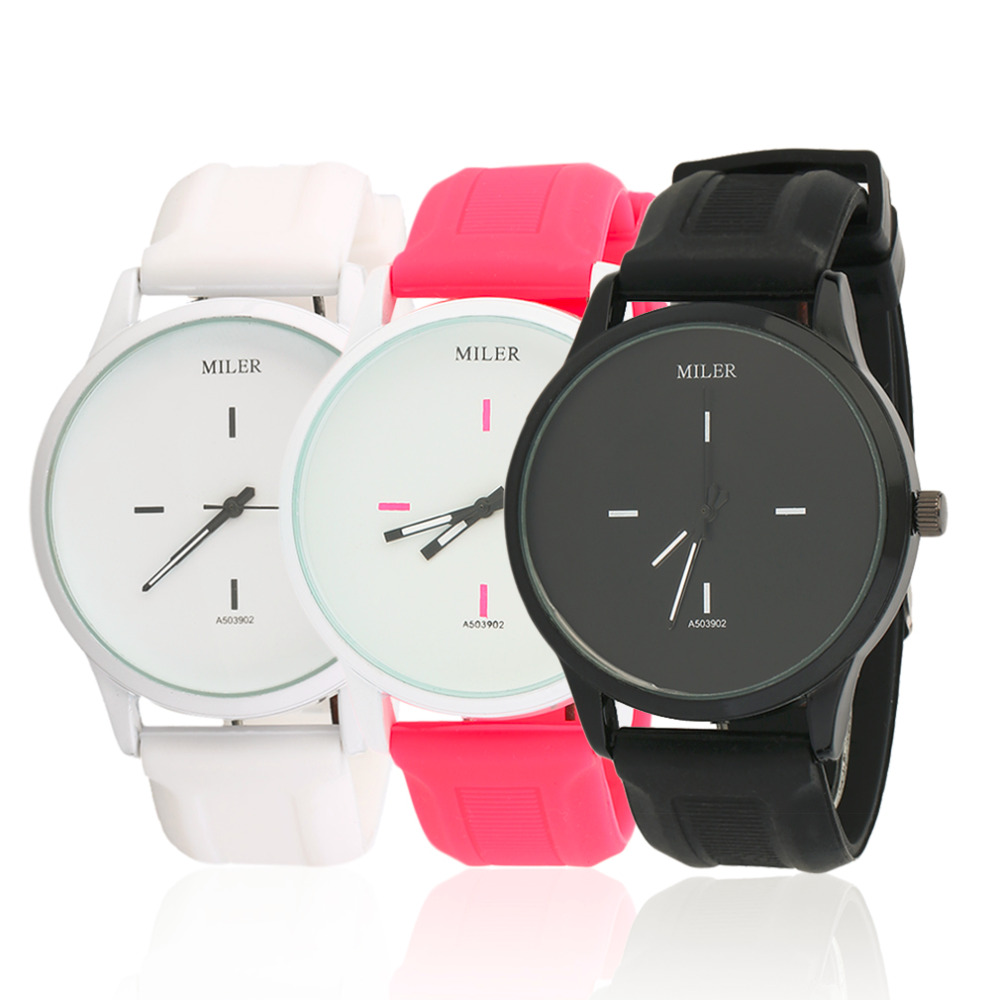Soft Silicone Jelly Band Quartz Wristwatch for Ladies Black White Dial Lovers Fashion Elegant watch Women Girls relogio original soft silicone strap jelly quartz watch big dial wrist watches for women ladies lovers bgg brand black white woman clock