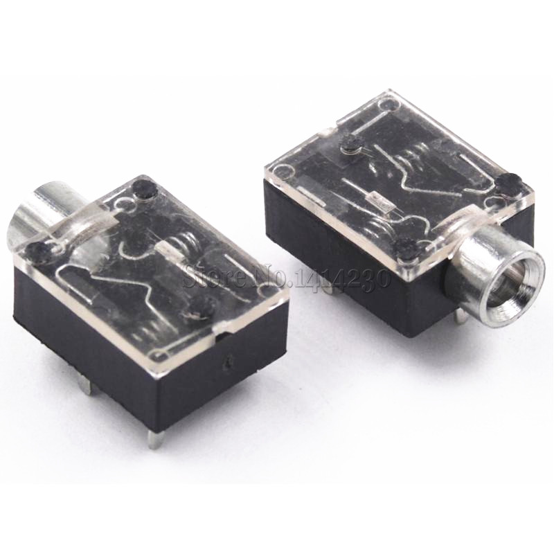 10PCS PJ-324 5 Pin 3.5mm Audio Jack Socket PCB Panel Mount For Headphone PJ324