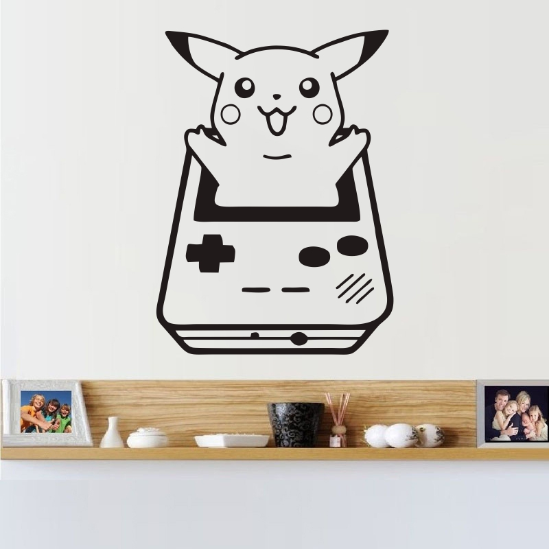 DECAL-Cartoon Pokemon Monster Pikachu Wall Sticker Home Decor Decoration Children's Kindergarten Bedroom Wall Decoration