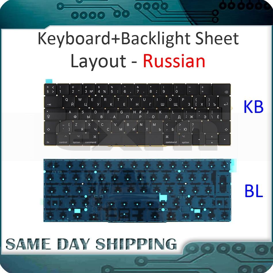 New for Macbook Pro Retina 15'' A1707 Keyboard Russian Russia RU w/ Backlight Backlit EMC3072 EMC3162 Late 2016 Mid 2017 Year