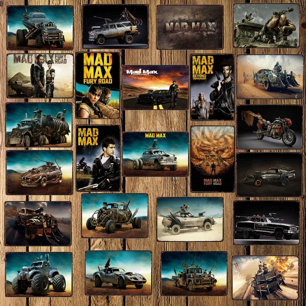 [ WellCraft ] Mad Max Movie Metal Tin Sign Wall Plate Poster Vintage Cinema Pub bar Retro Painting Personality Decor FG-243