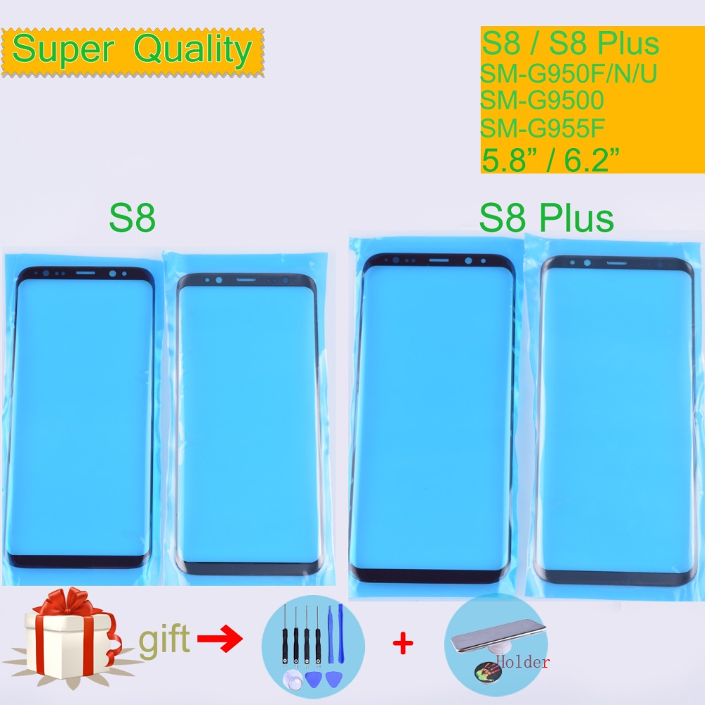For Samsung Galaxy S8 G950 G950F SM-G950F S8 Plus G955F SM-G955F Touch Screen Front Glass Panel Outer Glass Lens NO LCD S8+