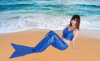 Mermaid costume two piece suit clothing costume cosplay Glue tights suit Party transvestites crossdress Party