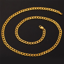 Cuban Gold Color Chain For Men Hip Hop Jewelry Wholesale 5MM Black Stainless Steel Curb Chain Necklace N396