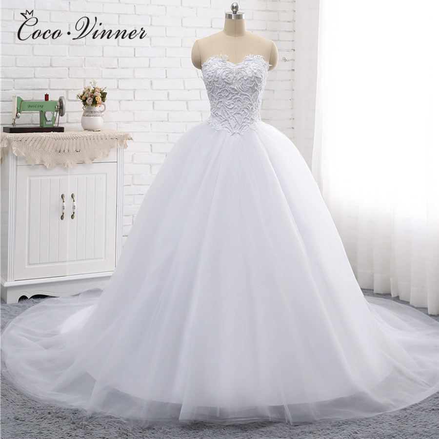 Jieruize White Simple Backless Wedding Dresses 2019 Ball: C.V Heavy Pearls Beading Pure White Color Wedding Dress