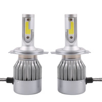 2pcs C8 H4 H L Car LED Headlamp Bulb Head Lights Replace Xenon Headlights 16000lm 9V