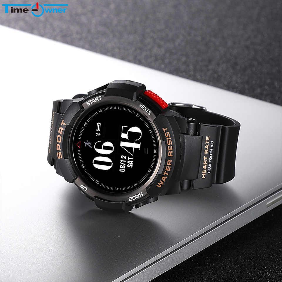 TimeOwner F6 Smartwatch IP68 עמיד למים מצב קצב לב צג שעון חכם להפסיק לצפות בספורט רב עבור אפל אנדרואיד טלפון חכם