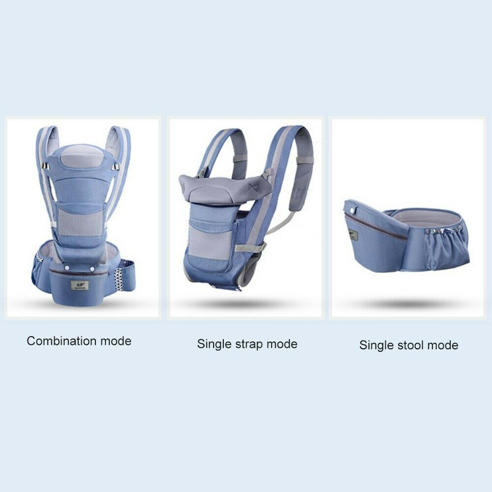 Image 3 - Baby Carriers Backpack Soft Comfortable Baby Carrier Wrap Cotton Breathable Wrap Kangaroo Bag Odorless Infant HipSeat-in Backpacks & Carriers from Mother & Kids