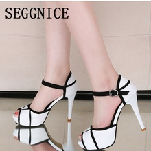 New Fashion Women White Shoes Summer Open Toe Fish Head Fashion High Heels Sandals Party Sexy 2019 Spring High Heels Pumps sexy nightclub waterproof shoes 16cm heels spring and summer sexy fine with the fish head high with sandals