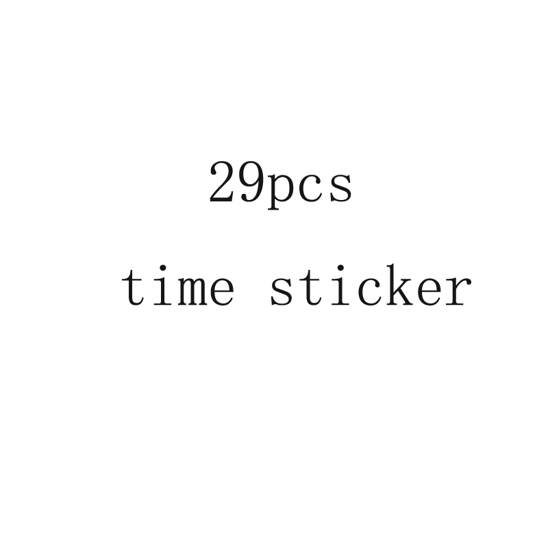 29pcs time stickers