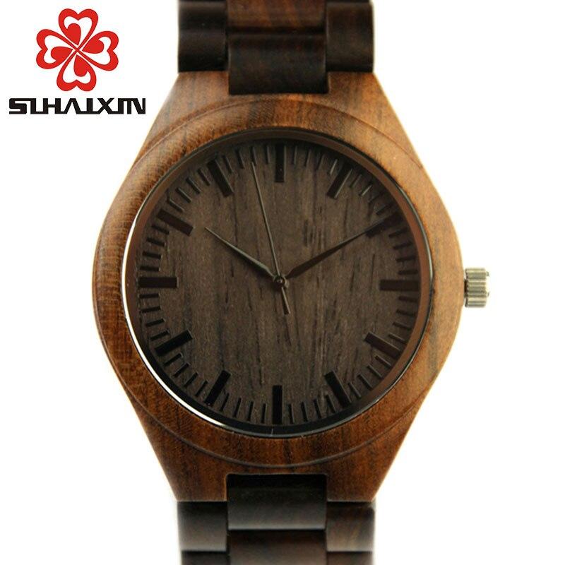SIHAIXIN montre en bois fait à la main hommes Unique toutes les montres en bois homme reloj madera erkek kol saati horloge mâle accepter livraison directe