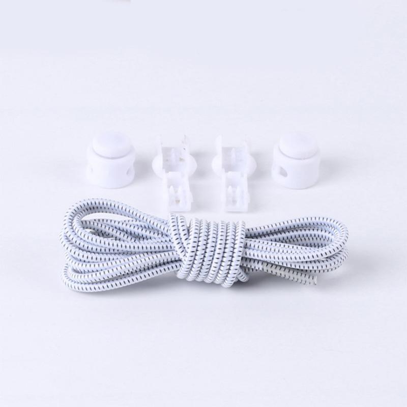 1 Pair No Tie Locking Shoelaces Elastic Unsiex Women Men Trainer Running Athletic Sneaks Shoe Laces Fit Strap Shoelace Wholesale (9)