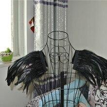 Черный Петух Coque перо эполет колодки карнавал перо плеча плечами Burning Man Festival погоны 30x30 см