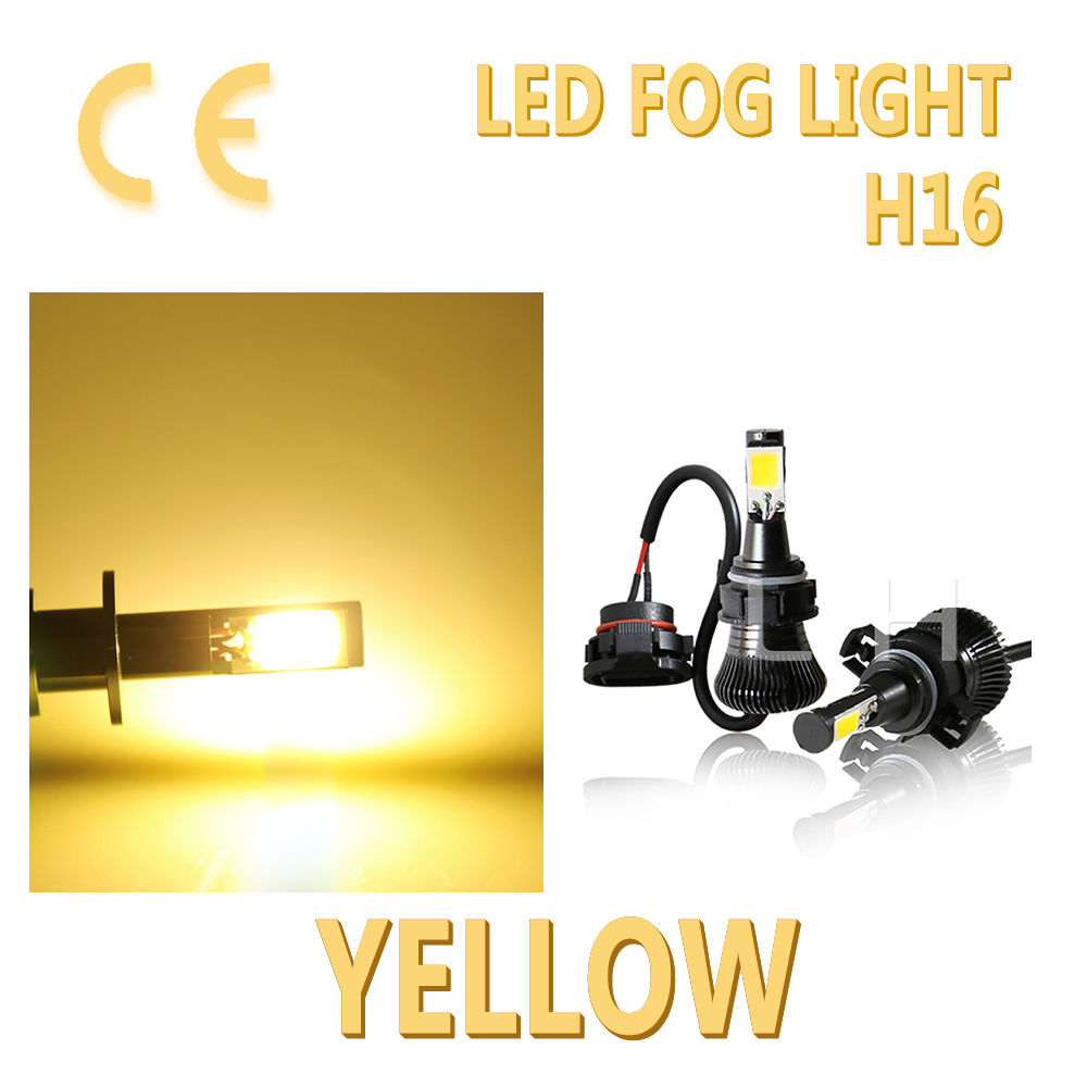 2pcs Fog DRL 12V <font><b>LED</b></font> H16 <font><b>5202</b></font> Bulb 5201 PS24W Driving Light New Flash stay Yellow