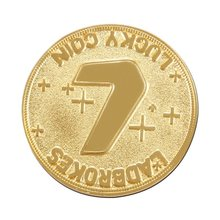 custom gold coins low Price Metal Souvenir Coin cheap Gold with Lucky Number