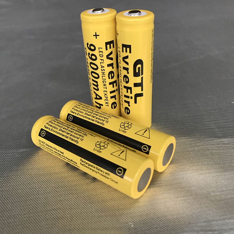 1/2/4/8/10/15/20 pcs 3.7V 9900mah 18650 Battery lithium batteria rechargeable lithium battery for flashlight  Cells
