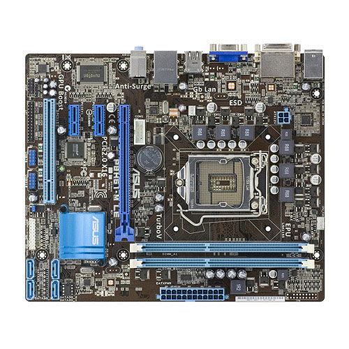 Used ASUS P8H61-M LE Socket LGA 1155 DDR3 16GB support I3 I5 I7 uATX Integrated desktop motherboard image