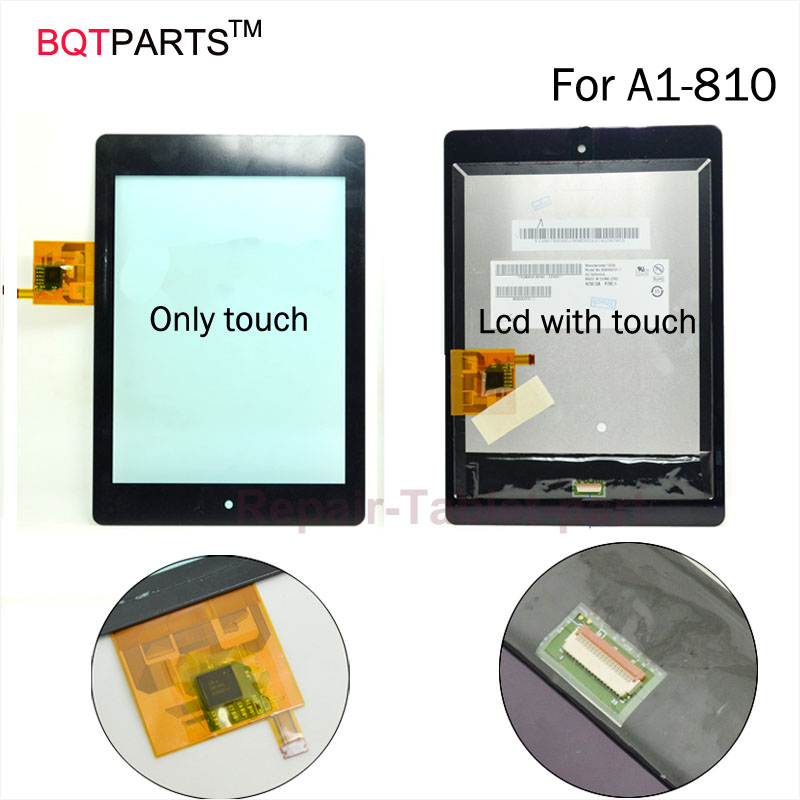 BQT For Acer Iconia Tab A1 A1-810 A1-811 A1 810 Display + Touch Screen Panel Digitizer Parts 7.9 Inch lcd Screen
