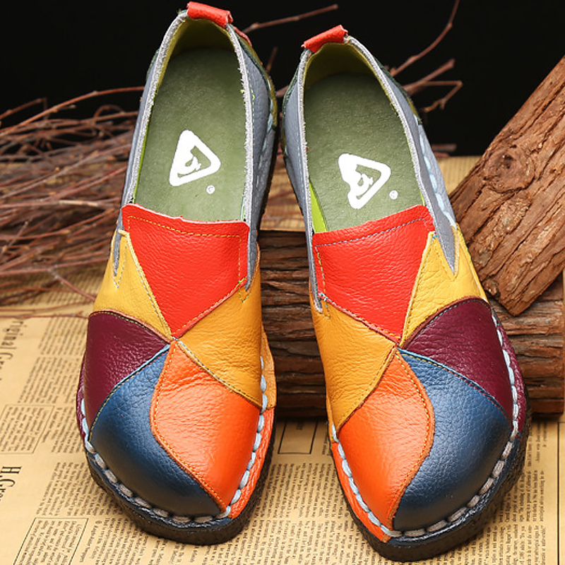 Frauen Schuhe Schuhe Hart Arbeitend Paisley Schuhe Für Frauen Bootsschuhe Plus Größe 9-10 Neue Ankunft Atmungsaktive Flache Mit Schuhe Frau Partei Damen Schuhe Müßiggänger Einfach Zu Verwenden