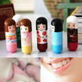 6pcs/Lot Lovely Lipstick Lip Gloss Kimono doll Pattern colorful Girl Makeup Lip Balm Lipstick present Newest