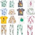2017 verano kikikids bobo choses niños león rana flor muchacha del muchacho bebé de la manga corta camiseta tee top girl legging vestido infanti