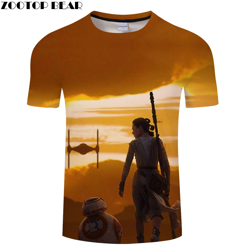 Dusk 2019 Star Wars Men Shirt 3D Print Fitness Breathable Bodybuilding Tees Quick Dry Male Tops Summer Casual Shirts ZOOTOPBEAR