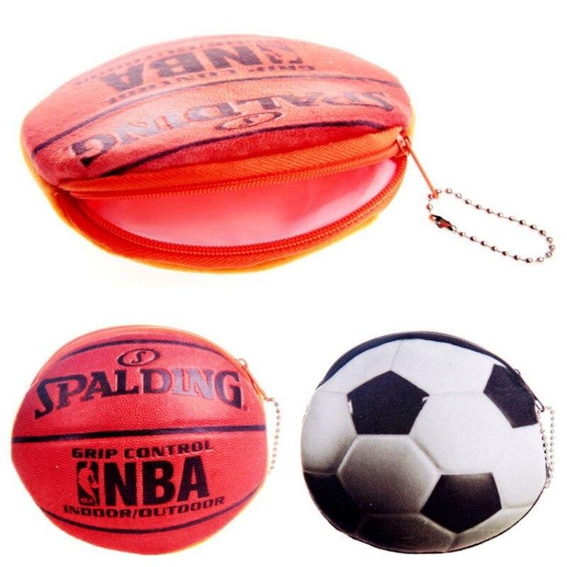 1pcs Cartoon basketbal ball flannelette children zipper bag kids zero wallet girl boy purse,lady coin wallets Case