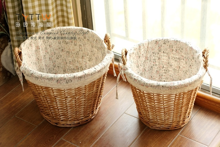 Korean White Crochet Ears Willow Storage Basket Storage Basket Laundry Baskets  Oversized Multi Purpose In Storage Bottles U0026 Jars From Home U0026 Garden On ...