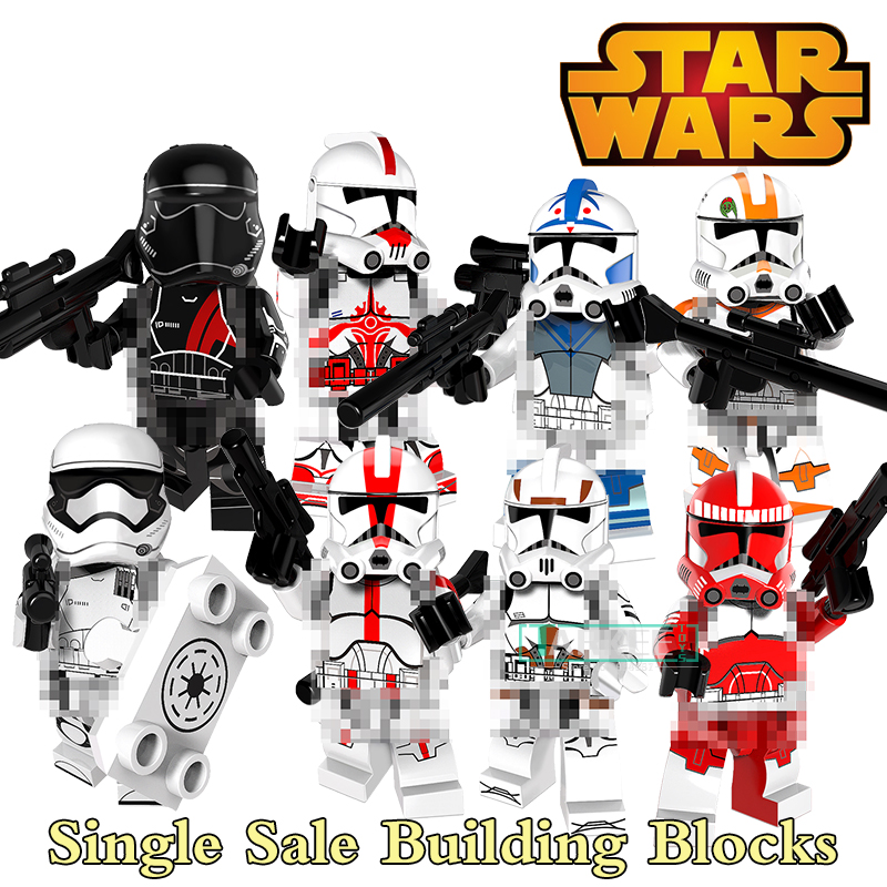 8 styles Building Blocks Star Wars Clone Trooper Figure Imperial Army Military Stormtrooper Block Bricks DIY Toy For Kids PG8097