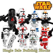 8 styles Building Blocks Star Wars Clone Trooper Figure Imperial Army Military Stormtrooper Block Bricks DIY Toy For Kids PG8097(China)