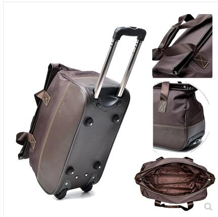 20 Inch Luggage Bags Trolley Travel Bag On Wheels For Women Men Suitcase Wheeled Travel Duffle Cabin Travel Rolling Baggage Bags