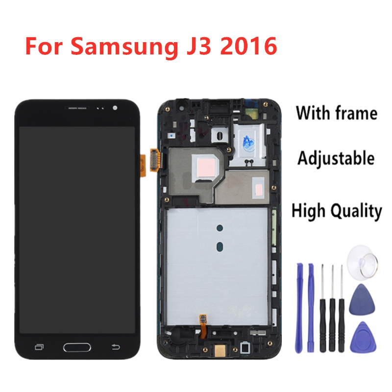 <font><b>LCD</b></font> For <font><b>Samsung</b></font> J3 2016 <font><b>lcd</b></font> For Galaxy j3 2016 Screen J320F J320M J320H <font><b>J320FN</b></font> Touch Screen Digitizer With Home Button Frame image
