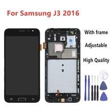 Samsung J3 2016 LCD için Galaxy j3 2016 ekran J320F J320M J320H J320FN dokunmatik ekran Digitizer ile ev düğmesi çerçeve