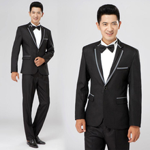 Stage performance Choral Suits Jacket + Trousers  young man Korean style master ceremonies Clothing Emcee moderator Slim Uniform