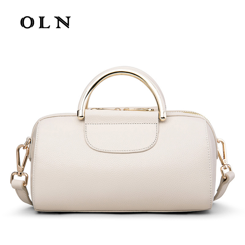 OLN Women Handbags Top-handle bags Genuine Leather Luxury Tote Bag Female High Quality Designer Shoulder Bag Bolsa feminina hermerce vintage tote bag genuine leather bag female handbag top handle bags women shoulder bags for women 2018 bolsa feminina