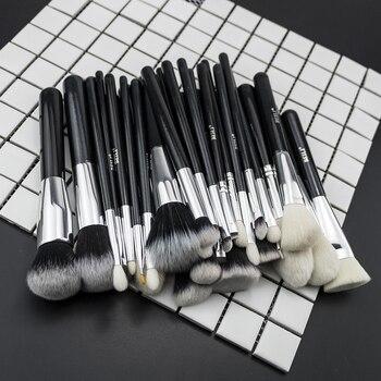 BEILI Black Complete Professional Foundation Powder Concealer Contour Natural goat hair Eyes Blending 30 pieces Makeup Brush set 2