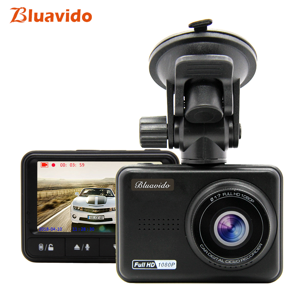 Bluavido Car DVR Full HD 1080P Video Recorder IMX323 WDR Night Vision Novatek 96658 Dash Camera 170 Wide Angle Vehicle Camcorder ambarella a7 hd 18mp 1080p 60fps cmos 170 wide angle night vision car dvr camcorder black